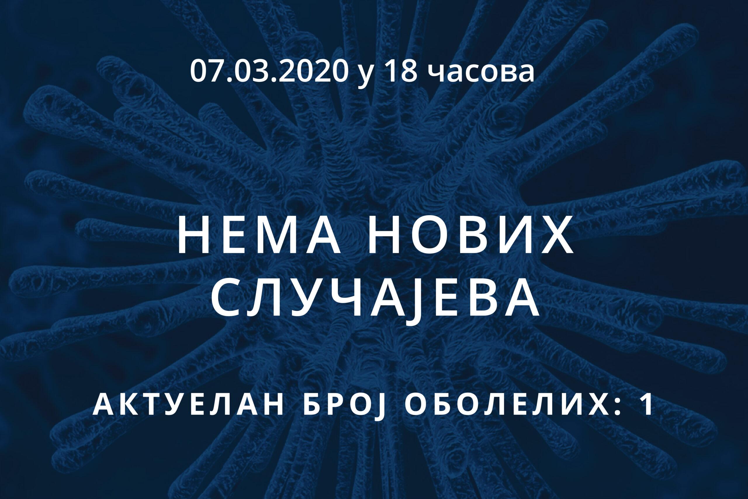 Информације о корона вирусу COVID-19, 07.03.2020 у 18 часова