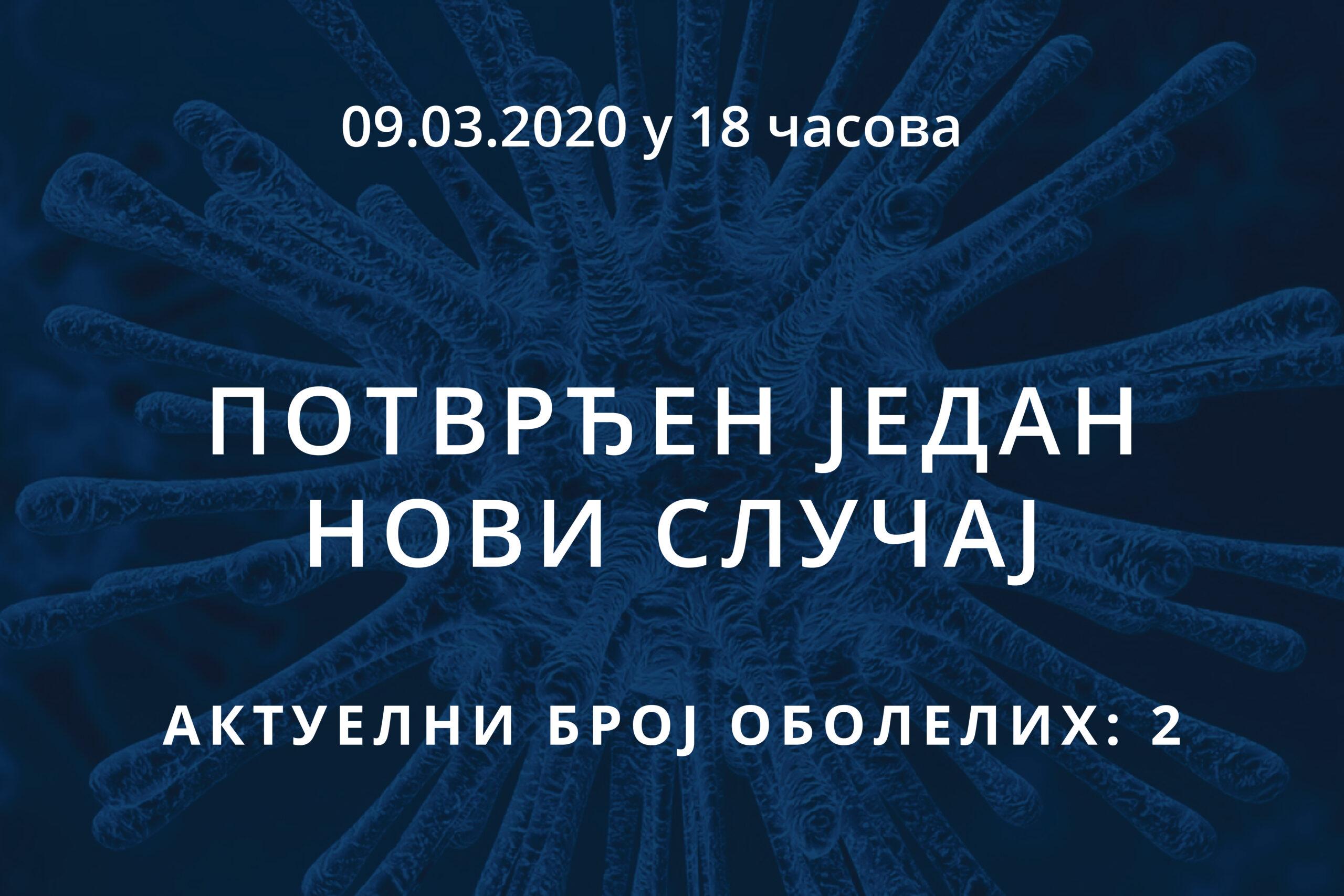 Информације о корона вирусу COVID-19, 09.03.2020 у 18 часова