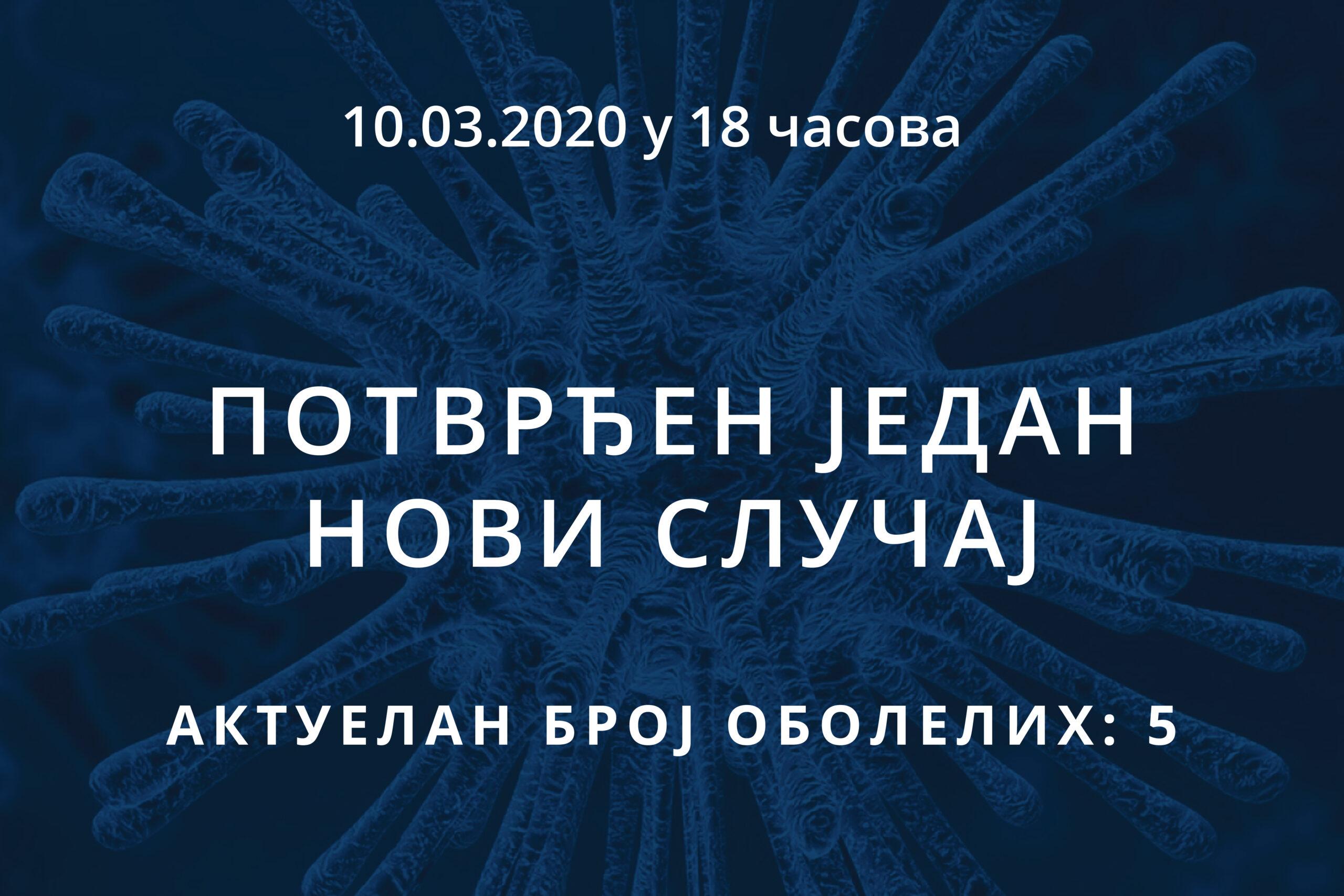Информације о корона вирусу COVID-19, 10.03.2020 у 18 часова
