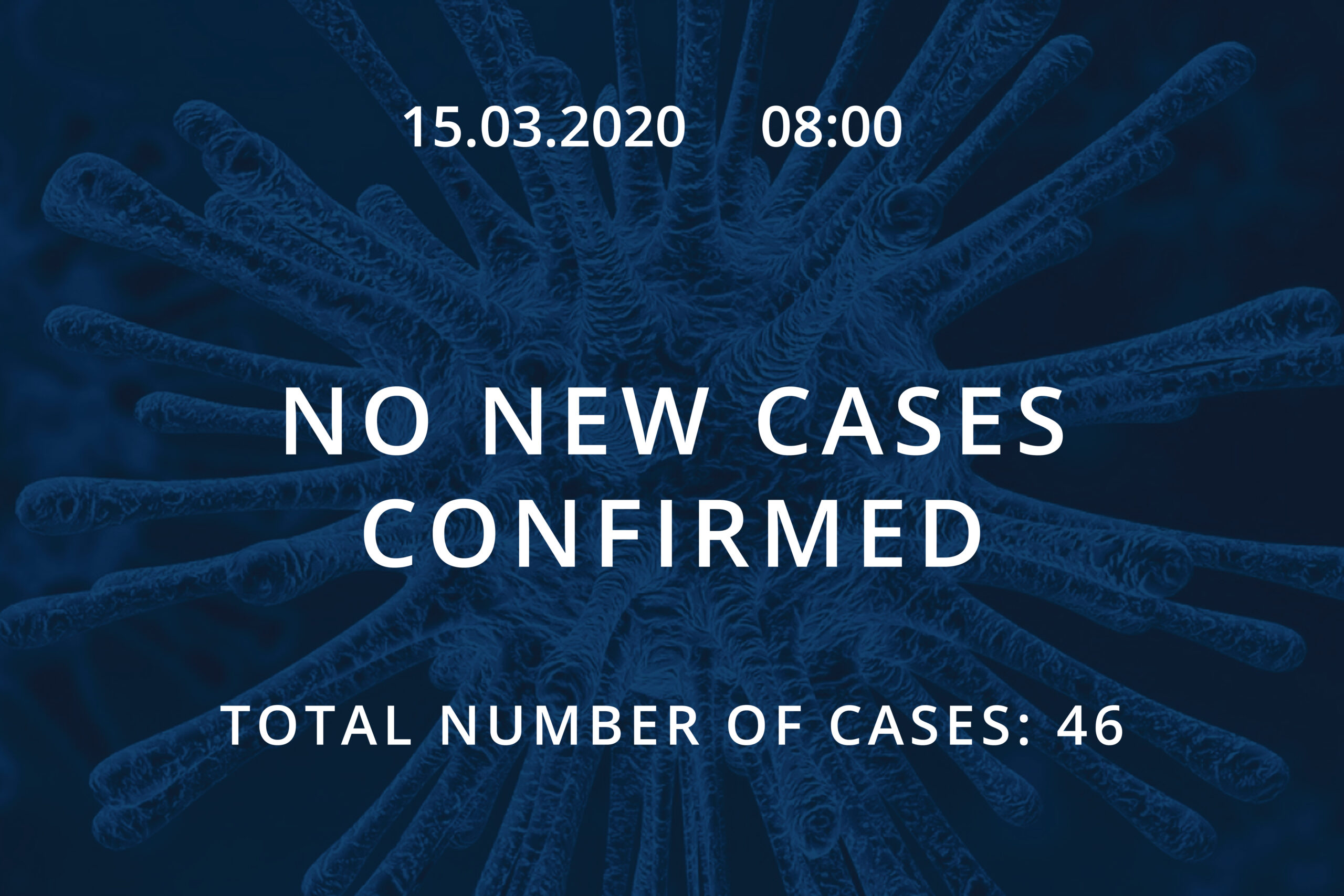 Information about coronavirus COVID-19, 15.03.2020 at 08:00