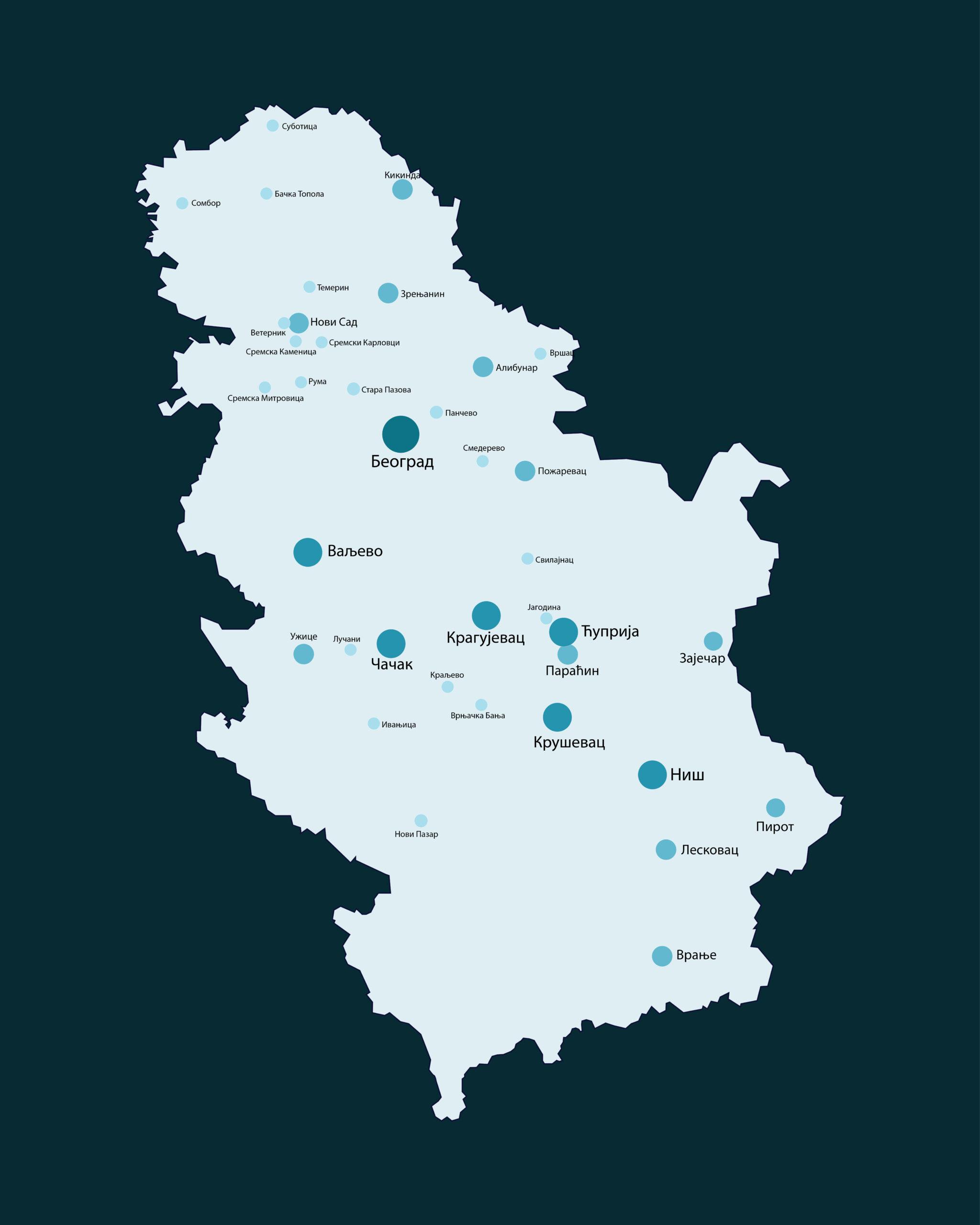 Karta Gradovi Srbije Xxl Covid 19
