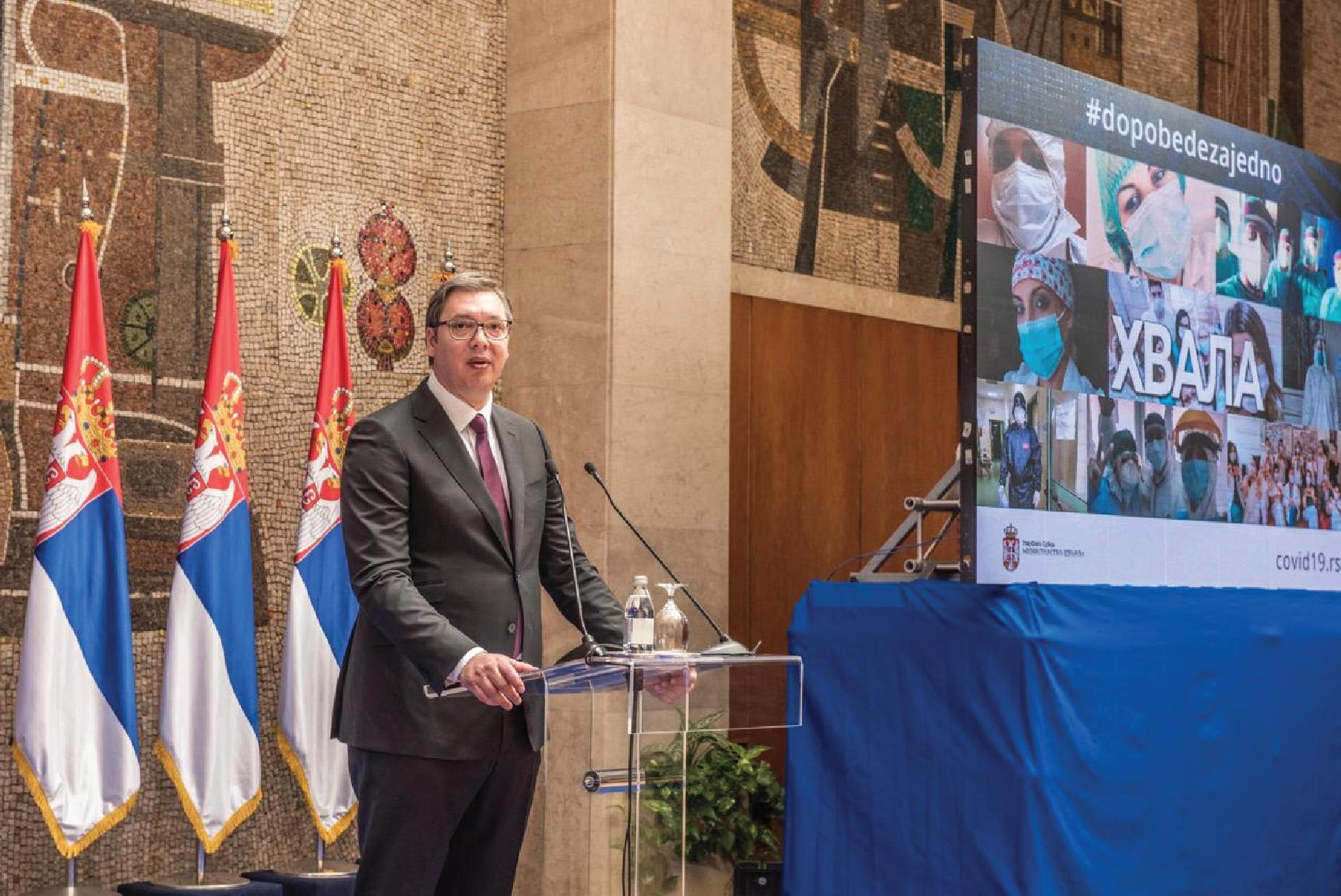 Председник Вучић здравственим радницима: Заувек остајете јунаци наше отаџбине
